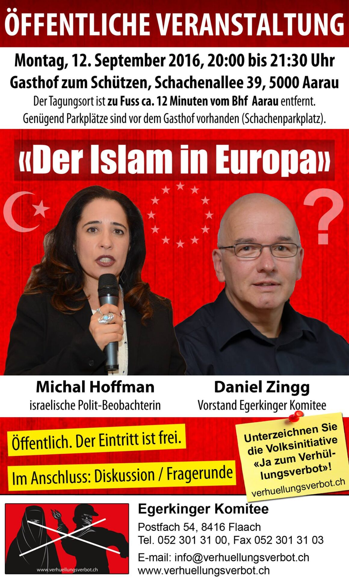 «Der Islam in Europa – was tun?»