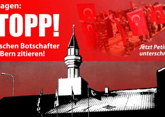 Petition «Schluss mit Erdogan-Einmischung»